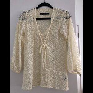 Like new Patterson Kincaid Lace blouse size small